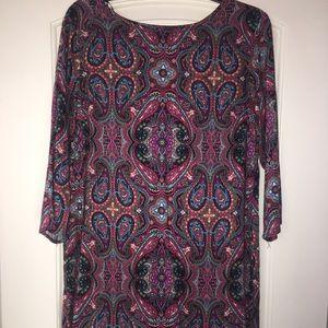 3/4 length sleeve mini dress